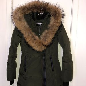 Mackage- Heavy Long Beautiful Olive Color!!!